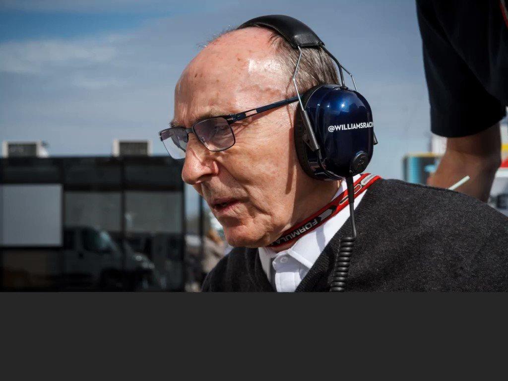 Wishing boss Frank Williams a Happy Birthday