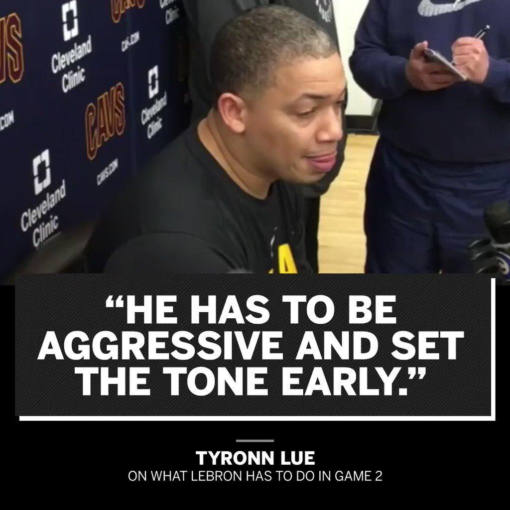 Tyronn Lue wants Playoff LeBron. https://t.co/tSDAfXgzxM