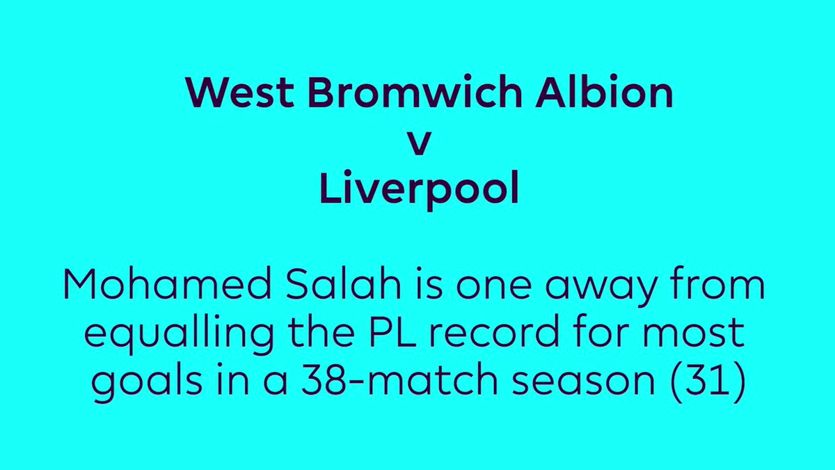 Will @22mosalah achieve this #PL feat at West Brom...? https://t.co/lFrO0TGIiK