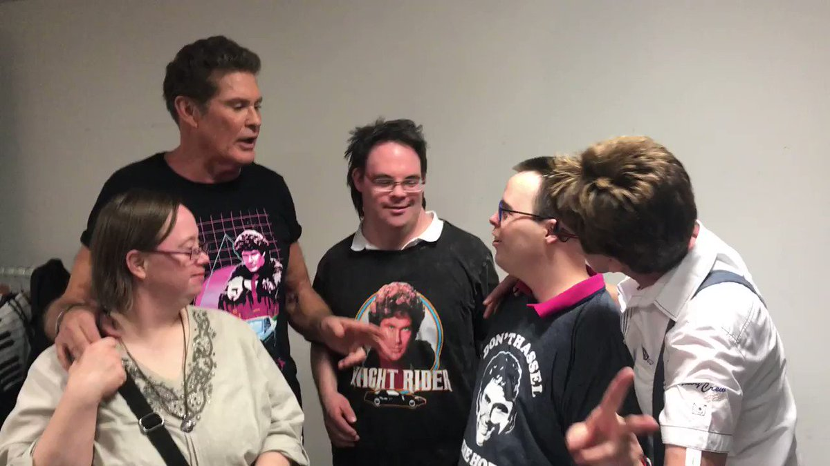 Having fun backstage with my cool fans, gotta love them!  #30YearsLookingForFreedom #Germany https://t.co/qWsx00snzx