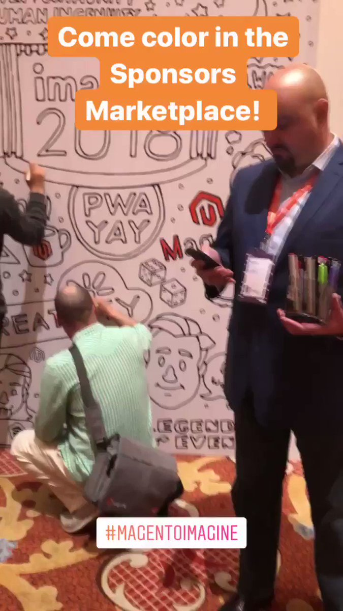 AmandaF_Batista: Who said #MagentoImagine was all business! COLORING FUN! 🖍🧡 https://t.co/1cbG9r3MeU