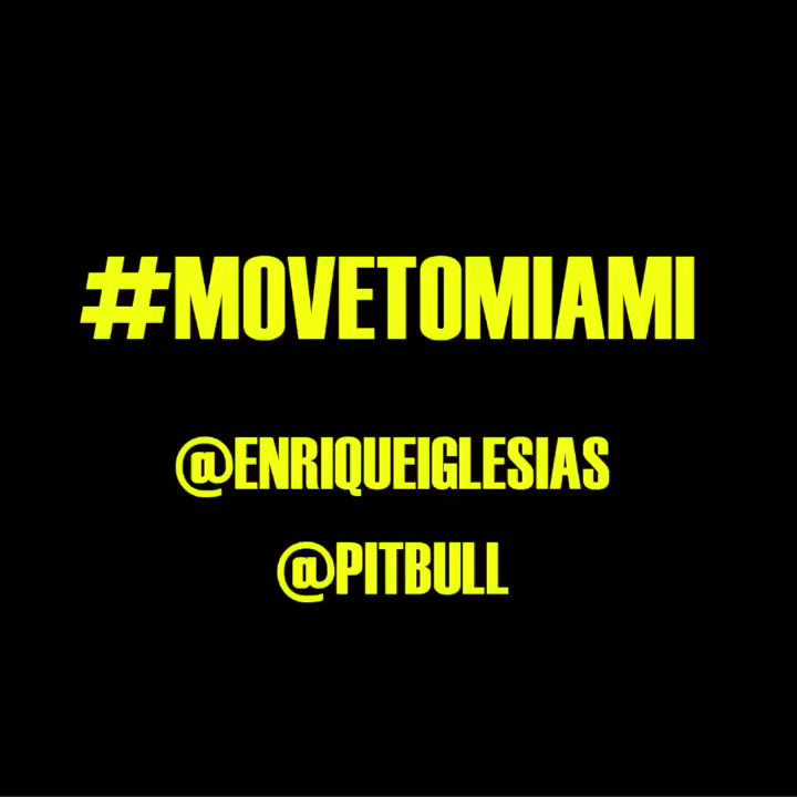 #MOVETOMIAMI @pitbull https://t.co/jyIibr9WZL