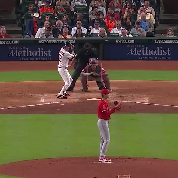 Ohtani threw FOUR 100+ mph pitches on Tuesday.  All other MLB starters have combined for 9 such pitches this season. https://t.co/MWslEdXDBo