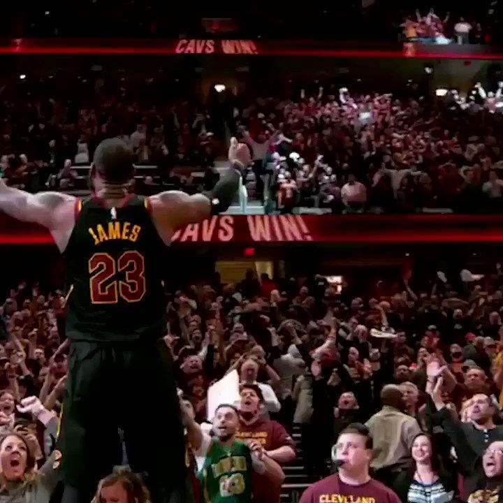 LeBron is for the fans. (via @NBA) https://t.co/v6mui6f6Hk