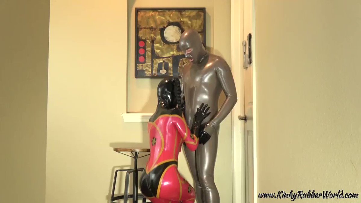 Have you seen our hot #rubber #spacegirl video yet? nt2sygQfFq catsuits by