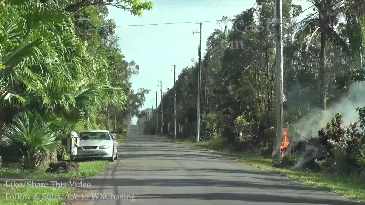 RT @lachlan: Some of these videos coming out of Hawaii are insane. Here's a blanket of rolling lava eating a car https://t.co/Z2gmgIyZtg