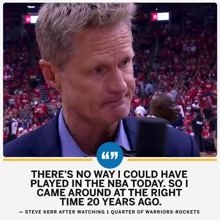 Steve Kerr knows how stacked this playoff series is. https://t.co/DA3ysGLNul