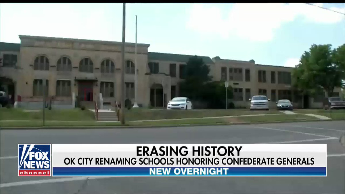 OK City renaming 3 schools honoring Confederate generals https://t.co/4gvUTyV6Td