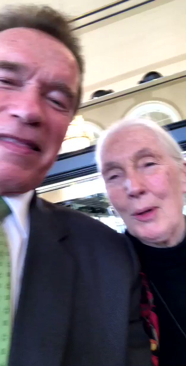 With one of my heroes, @JaneGoodallInst, at our Austrian World Summit. Such an amazing leader! https://t.co/RQYpBRAHCH