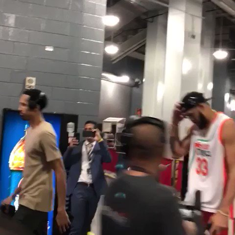 Jackie Moon is in the building in Houston.   @JaValeMcGee has arrived. #NBAStyle https://t.co/pPNbD1L8ue