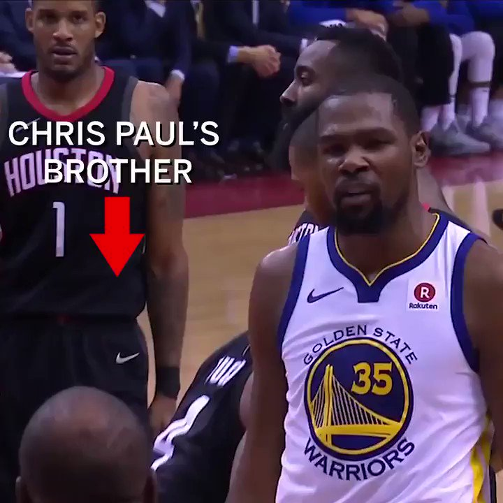 KD telling CP3's brother to 'sit down' https://t.co/IVCXIEkcOk