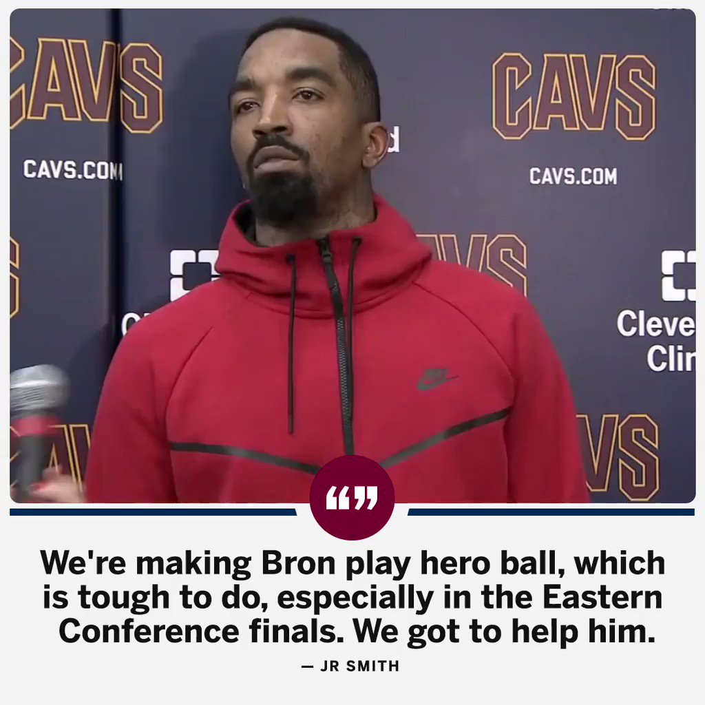 JR Smith thinks the Cavs have to 'ramp it up' against the Celtics. https://t.co/6OIOGdIid1