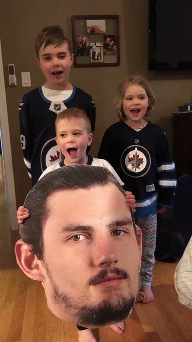 Happy Birthday Connor Hellebuyck from super fans, Maxwell, Victoria and William