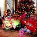 My babies in their rides :D Lamborghini Gallardo and Ferrari California!!