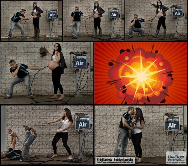 Evan Conway (@EvanConway): Clever couple showing off pregnancy.  :) http://t.co/WToLXn0i