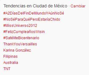 Mexico City is trending! Thank you dear roses!!!! ThankYouVersailles http://t.co/KmNbrVNO