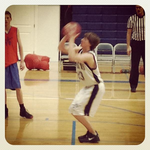 Chantelle Courtney (@TelleCourtney): swish! @Joel_Courtney #letsgo23 http://t.co/ezMykwMY
