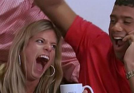 Russell Wilson's wife reacts to the news of him starting http://t.co/t6F0zXf8