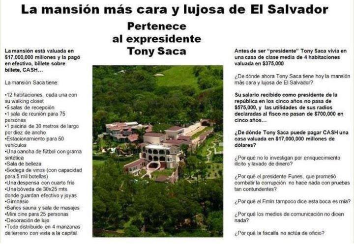 La mansión mas cara y lujosa de El Salvador pertenece a Ex presidente Tony Saca' realidad o una farsa? ¿TU QUE OPINAS? http://t.co/RmJzCl3u
