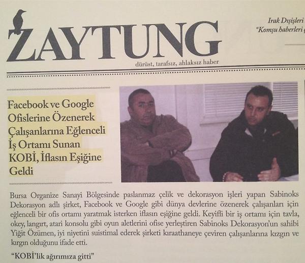 Ufuk Tarhan  (@futuristufuk): @zaytung kitapta bunun gibi bir suru haber, bir arada. Deli bir sey olmus, super!!! http://t.co/Mg2jJhrs