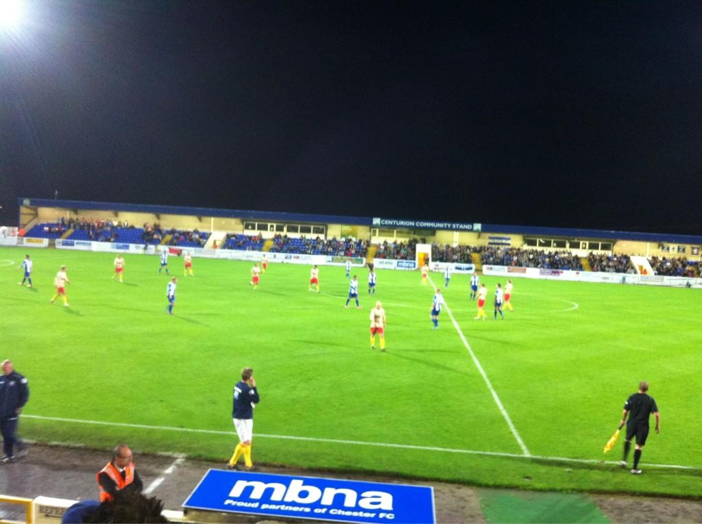 Not long to go now at the Exacta @ChesterFC Proud to sponsor local football. http://t.co/X6j2nQ2b