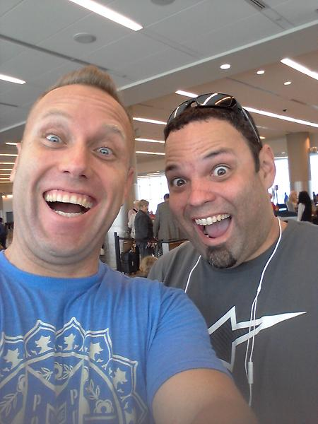 Swifty (@SwiftyiRL): Only got a few hours of sleep,  I'm with taco with a p about to board the plane to Germany.  Upgraded the seats http://t.co/Ghl47AhZ