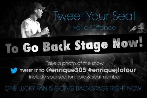 Enrique Iglesias twit & win