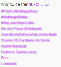 Beau is trending Worldwide :) http://t.co/GCqaexPz
