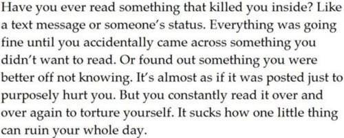 Worst feeling. http://t.co/AUcy6Nlx