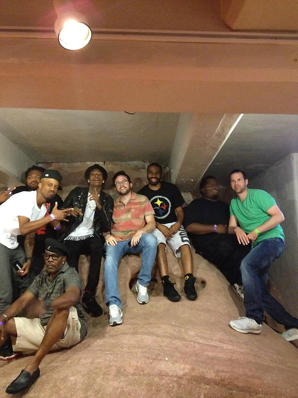 Ellen Grinberg (@etownpgh): Taylor Gang/Rostrum Records on the rocks...@benjybenjy @schackschack @RealWizKhalifa @ITSMotorMane @OGStat412 #RedRocks http://t.co/LoG2zdLl