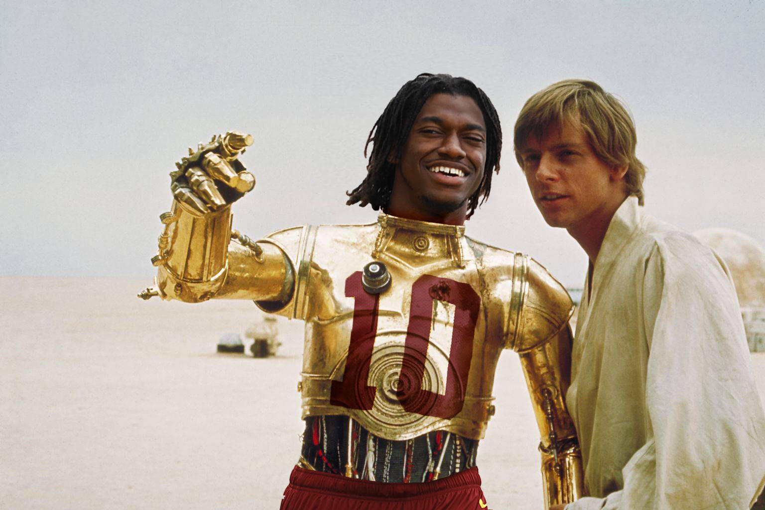 I want to introduce RG3PO, my fantasy football league mascot. Say hello. #nfl #fantasyfootball #rg3 #rg3po http://t.co/0lE3ak7u