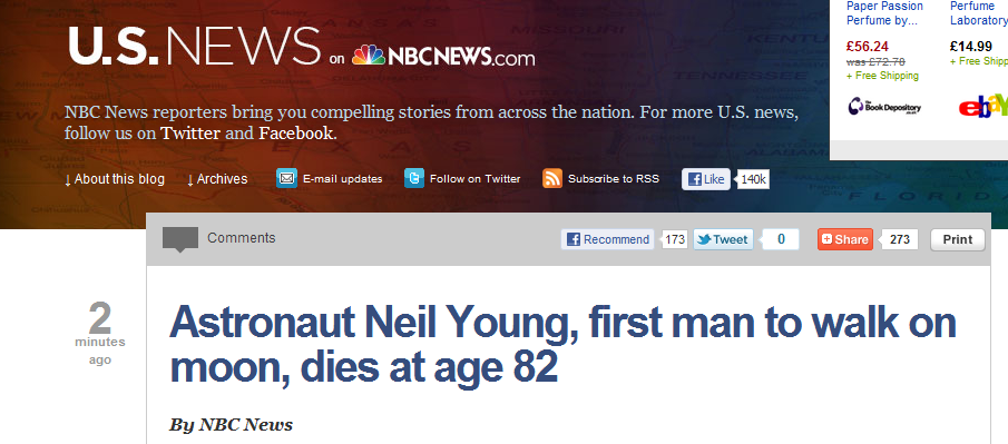 First man on moon or Harvest Moon? Easily done. NBC fail. Neil Armstrong is not Neil Young http://t.co/LuQCgsSR (via @redskyatnight)