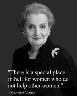 Madeleine Albright 'There's a special place in hell for women who do not help other women.' #obama2012 #womenforObama http://t.co/8xlZ0ABv