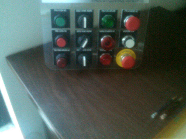 Industrial buttons! I'm so happy. I pushed them all. It was beyond satisfying. http://t.co/qP3K43uU