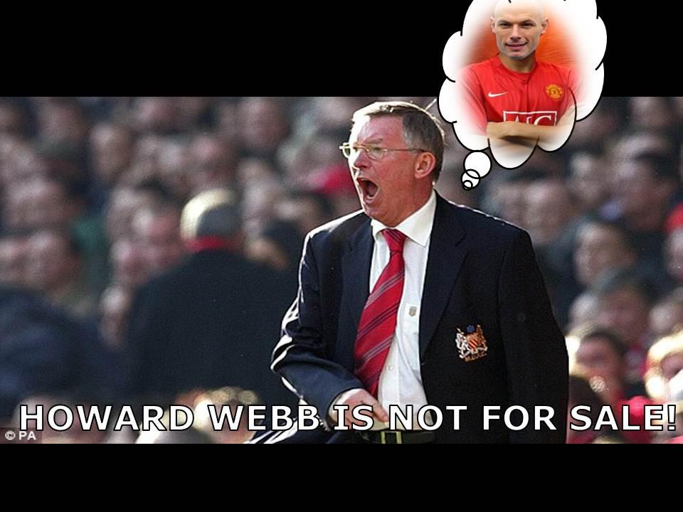#BreakingNews Man United have rejected a £50m bid for Howard Webb from Liverpool. http://t.co/uSoOdkSh
