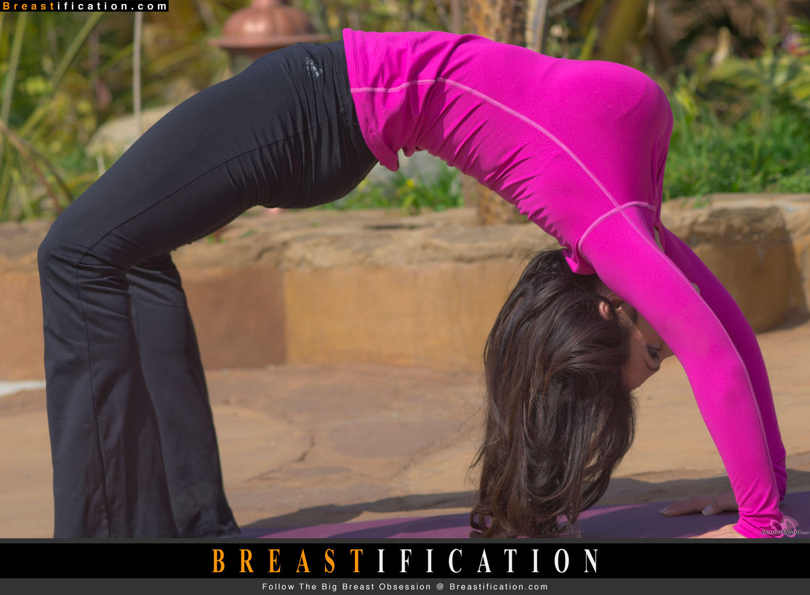 Big boobs yoga courtesy of the gorgeous and fit Denise Milani #Breastification http://t.co/pxbqztUi