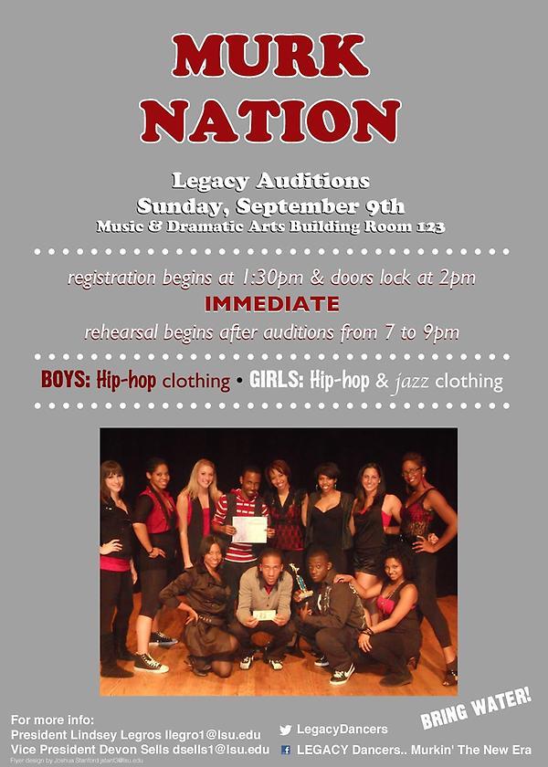 @LegacyDancers Audition info!! Be ready to WERRRKKKKKKKKK http://t.co/o6A5wG13
