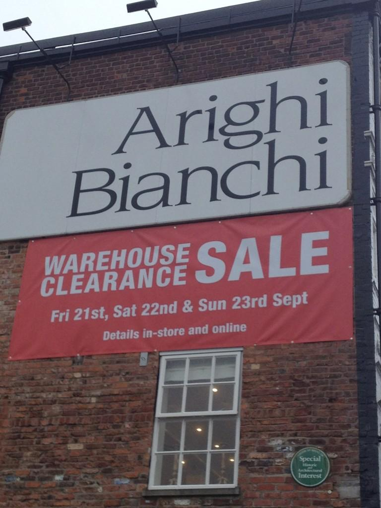 The Arighi Bianchi WAREHOUSE CLEARANCE SALE starts next Friday! http://t.co/2uKLxasr