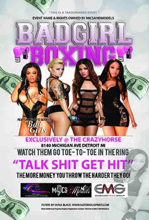 JUST IN' OCT 1st BAD GIRLS CLUB BOXING come watch the ladies of #BadGirlsClub THROW THEM HANDS bring ya racks with you http://t.co/dUlBYsVW