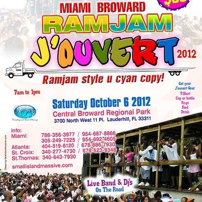 JOUVERT IN MIAMI SATURDAY MORNING BAND AND DJ TRUCKS http://t.co/uY9gDSRy