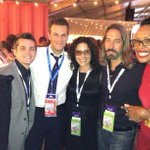 RT @Brianellner: Celebrating @google after party with @LisaEdelstein @aishatyler @jonathandelarco #dnc2012