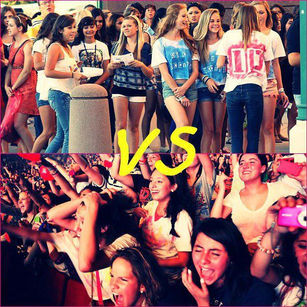 Fans Latinas vs Gringas. RT Si sos Latina. FAV Si sos Gringa. http://t.co/Dh5KKhZR