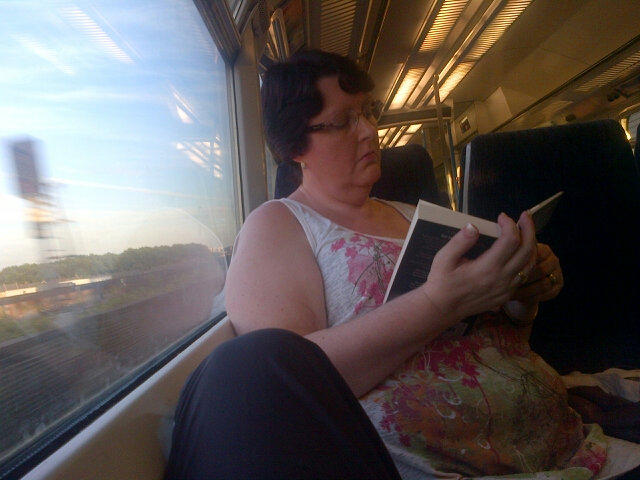 Pretty sure I have Mrs. Doubtfire sitting opposite me on the train reading 50 Shades. http://t.co/LaqvunJU