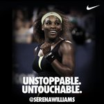 RT @Nike: Unstoppable. Untouchable. @SerenaWilliams