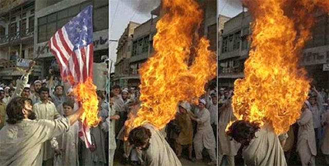 American Flag: $25…Gasoline: $2…Lighter: $2.50…Catching Yourself on Fire Because You're a Terrorist: Priceless… http://t.co/glQJZzko