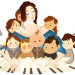 Today's doodle honors Clara Schumann, a Victorian pianist & composer who knew how to tickle the ivories