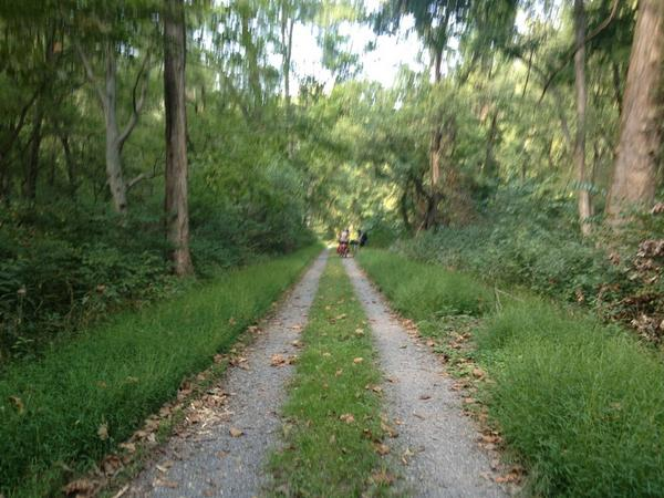 C&O canal path is a little more technical than the GAP trail! Get ready for a beautiful bumpy ride!