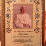 Deeply honoured to have received Blessings from His Holiness the Pope... http://t.co/5WPkp6mO