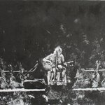 RT @PeteMarshArt: @chriscornell monoprint of recent solo tour. Etching is still under development.