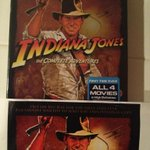 @ParamountPics thanks for the awesome @IndianaJones Blu-ray DVD The Complete Adventures set!